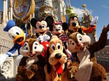 Still around: The parade might have changed a little but classic characters such as Mickey and Donald remain