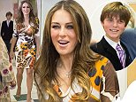 Mandatory Credit: Photo by REX (4217887o)  Elizabeth Hurley  Elizabeth Hurley Opens the New 'Hop, Skip and Jump' Facility in Swindon, Britain - 23 Oct 2014