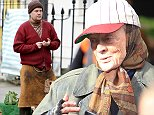 Picture Shows: James Corden  October 20, 2014\n \n James Corden, Maggie Smith and Alex Jennings are pictured filming scenes for the upcoming film 'The Lady In The Van' in London, England.\n \n The film, based on the play by Alan Bennett, is about a tramp (played by Maggie Smith) who lives in a van for more than fifteen years. James Cordon plays a market trader.\n \n Exclusive All rounder\n WORLDWIDE RIGHT\n Pictures by : FameFlynet UK © 2014\n Tel : +44 (0)20 3551 5049\n Email : info@fameflynet.uk.com