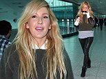 EXCLUSIVE: Ellie Goulding arrives at Heathrow Airport from Los Angeles where she has just finished filming a video with Calvin Harris.\n\nPictured: Ellie Goulding\nRef: SPL871072  221014   EXCLUSIVE\nPicture by: Steve Bagness / Splash News\n\nSplash News and Pictures\nLos Angeles:\t310-821-2666\nNew York:\t212-619-2666\nLondon:\t870-934-2666\nphotodesk@splashnews.com\n
