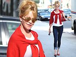 22.OCTOBER.2014 - BEVERLY HILLS - USA **STRICTLY AVAILABLE FOR UK ONLY *** *** EXCLUSIVE ALL ROUND PICTURES *** ACTRESS MELANIE GRIFFITH LOOKS VERY HAPPY WHILE GRABBING COFFEE IN BEVERLY HILLS CALIFORNIA BYLINE MUST READ : XPOSUREPHOTOS.COM ***UK CLIENTS - PICTURES CONTAINING CHILDREN PLEASE PIXELATE FACE PRIOR TO PUBLICATION *** CLIENTS MUST CALL PRIOR TO TV OR ONLINE USAGE PLEASE TELEPHONE 020 8344 2007