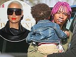 """UK CLIENTS MUST CREDIT: AKM-GSI ONLY\nEXCLUSIVE: Los Feliz, CA - Newly single Wiz Khalifa picks up his mini-me Sebastian from Amber Rose's place one day after her birthday. Khalifa sent birthday wishes to his estranged wife Amber Rose yesterday via Twitter saying: """"Happy birthday Amb <3 @DaRealAmberRose,"""" and her response was even more surprising: """"@wizkhalifa Thank u Sweetheart #StillLoveYouNoMatterWhat."""" After one year of marriage, Amber filed for divorce from Wiz Khalifa on September 22, 2014 citing irreconcilable differences.\n\nPictured: Wiz Khalifa and Sebastian Taylor Thomaz\nRef: SPL872481  221014   EXCLUSIVE\nPicture by: AKM-GSI  \n\n"""