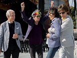 The Rolling Stones pose at a media call at Adelaide Oval. L-R Charlie Watts, Keith Richards, Mick Jagger and Ronnie Wood.