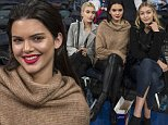 NEW YORK, NY - October 22nd: Reality television Star Kendall Jenner sits court side with  Hailey Baldwin (left) and Gigi Hadid (right) during tonight's game at Madison Square Garden as the New York Knicks vs the Washington Wizards. Wednesday, October 22nd, 2014. (Photo by Anthony Causi)  \n\nPictured: Kendall Jenner, Hailey Baldwin, Gigi Hadid\nRef: SPL872116  231014  \nPicture by: Anthony J. Causi / Splash News\n\nSplash News and Pictures\nLos Angeles: 310-821-2666\nNew York: 212-619-2666\nLondon: 870-934-2666\nphotodesk@splashnews.com\n