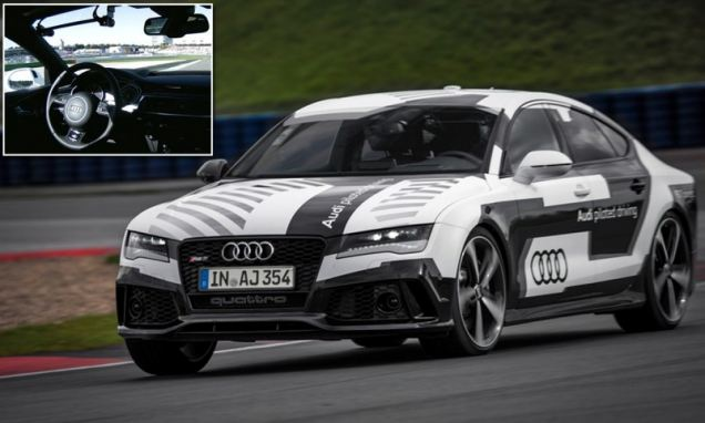 Self Driving Car Preview  Watch the amazing self driving car that can reach 150mph: Audi reveals smart racecar