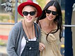 EXCLUSIVE: Sticking by her side! Mom Demi Moore and daughter Tallulah Willis look happy while arriving at Kate Somerville in Beverly Hills, CA.  Pictured: Tallulah Willis and Demi Moore Ref: SPL871716  221014   EXCLUSIVE Picture by: Camo / Splash News  Splash News and Pictures Los Angeles: 310-821-2666 New York: 212-619-2666 London: 870-934-2666 photodesk@splashnews.com