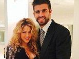 Shakira Instagram with partner Gerard Pique holding her baby bump