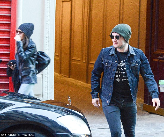 Incognito: Josh Hutcherson and Claudia Traisac tried to lay low as they spent the day together in Paris, while taking a break from promoting their new movie Escobar: Paradise Lost