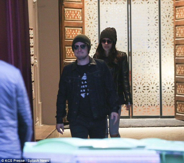 Spa stars: The two rumoured lovebirds were seen leaving a hammam in Paris, before going on for dinner