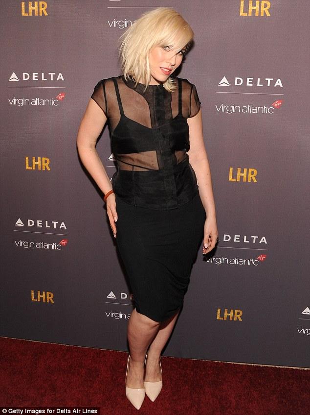 Sheer delight: British singer Natasha Bedingfield was beautiful in black at the Delta and Virgin party