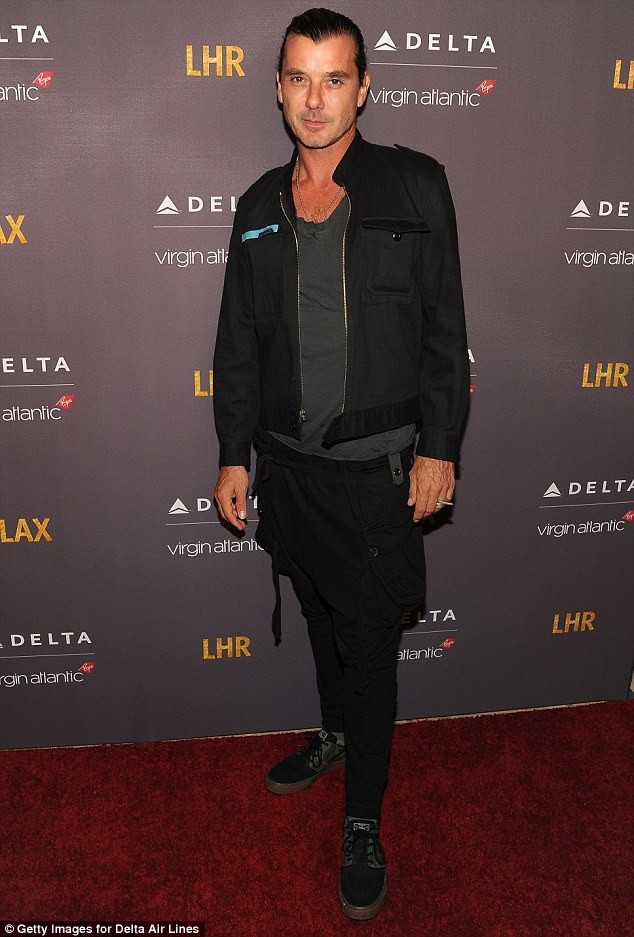 Rocker chic: The British rocker certainly sported a more edgy look at the soiree