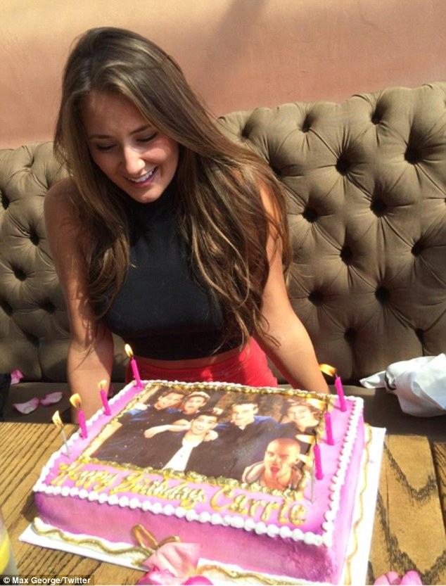 Happy birthday! Max recently surprised Carrie with a funny One Direction birthday cake, as he declared his love for her on Twitter