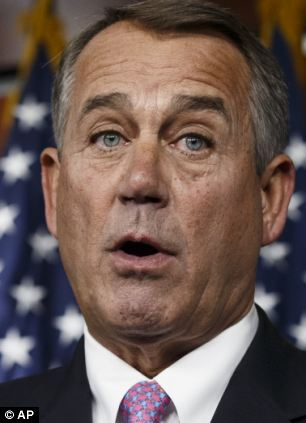 House Speaker John Boehner charged that President Obama 'is rewriting law on a whim,' failing to go through Congress for changes to the Affordable Care Act