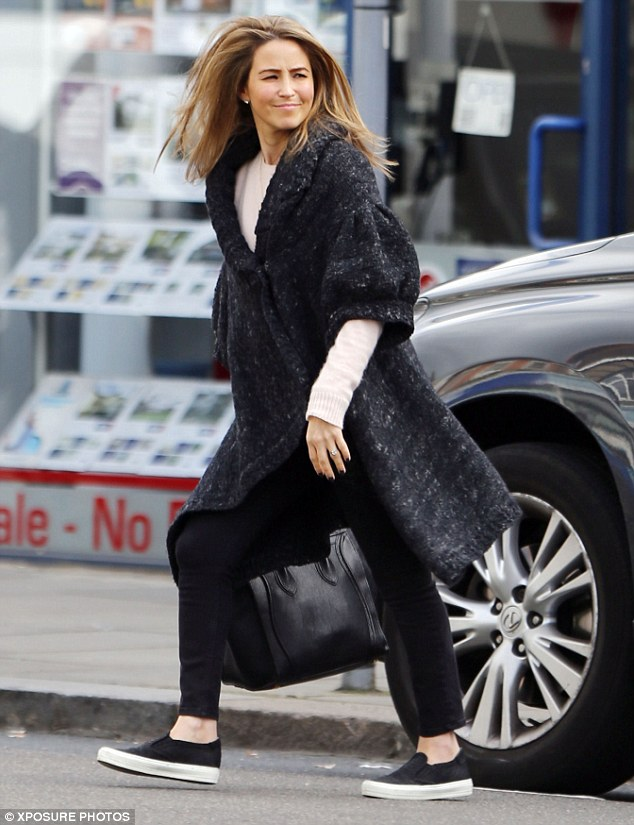 Preparing for a comeback: Rachel got her hair done at a nearby salon, before running errands in west London