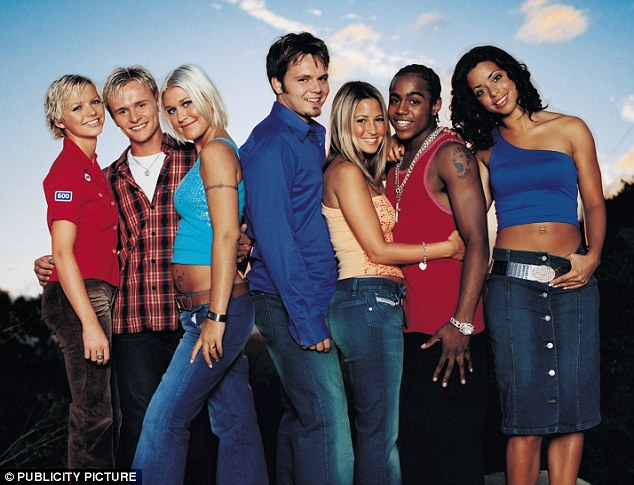 TV and music stars: S Club 7 rose to fame in the late 90s thanks to their incredibly popular TV show Miami 7, followed by a slew of chart hits