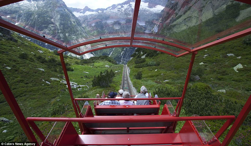 Hidden treasure: Despite it being the steepest funicular in the world, the photographer says very few people have heard of it