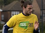 Pic by Avril Husband / Griffiths Photographers West Ham United training prior to their home match against Manchester City Chadwell Heath Training Ground 23-10-2014 Andy Carroll