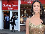 Pictured - Cahterine Zeta Jones walks out of the store after being spotted with a dicounted item. See Ross Parry copy RPYCATHERINE. Actress Catherine Zeta Jones showed she has an eye for a bargain - after being spotted shopping in DISCOUNT STORES. Shoppers stopped in disbelief as the Hollywood actress swapped the red carpet for the sale rack as she went bargain hunting in picturesque seaside town Whitby, North Yorks., while filming nearby for the new Dads Army blockbuster.The Chicago star picked up a vintage blouse for just a tenner in vintage clothing store Owl and Pussycat.