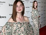 "HOLLYWOOD, CA - OCTOBER 23:  Actress Elle Fanning attends the premiere of Oscilloscope Laboratories' ""Lowdown"" at ArcLight Hollywood on October 23, 2014 in Hollywood, California.  (Photo by David Livingston/Getty Images)"