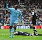 Sky Blue heaven: Yaya Toure celebrates his second goal