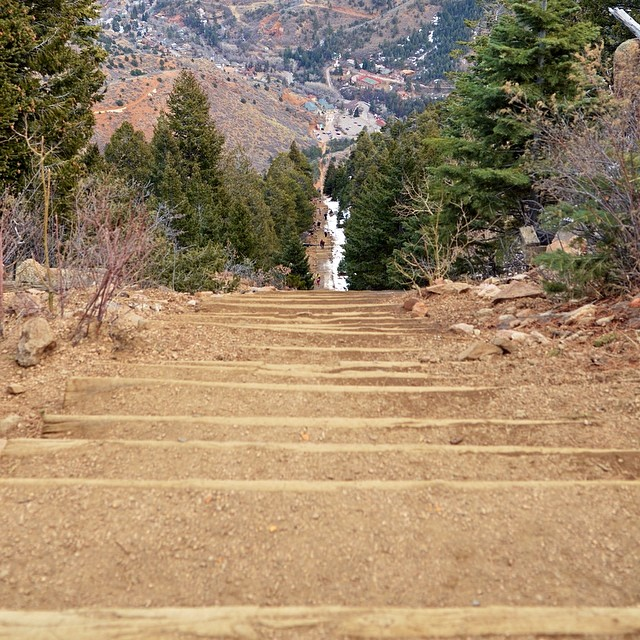 View from the top if the Manitou Incline. Read about my hike up there in my latest blog post! Manitou Springs, Colorado.