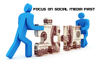 get new links by focussing on social media first