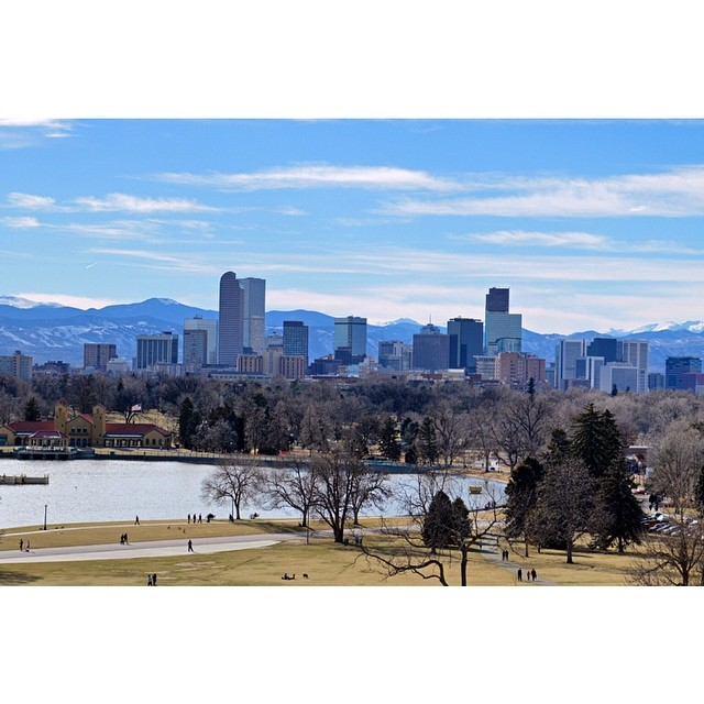 Love this view of Denver's skyline with the mountains in the background. Visit my latest blog post to see how you can replicate this shot! Denver, Colorado.