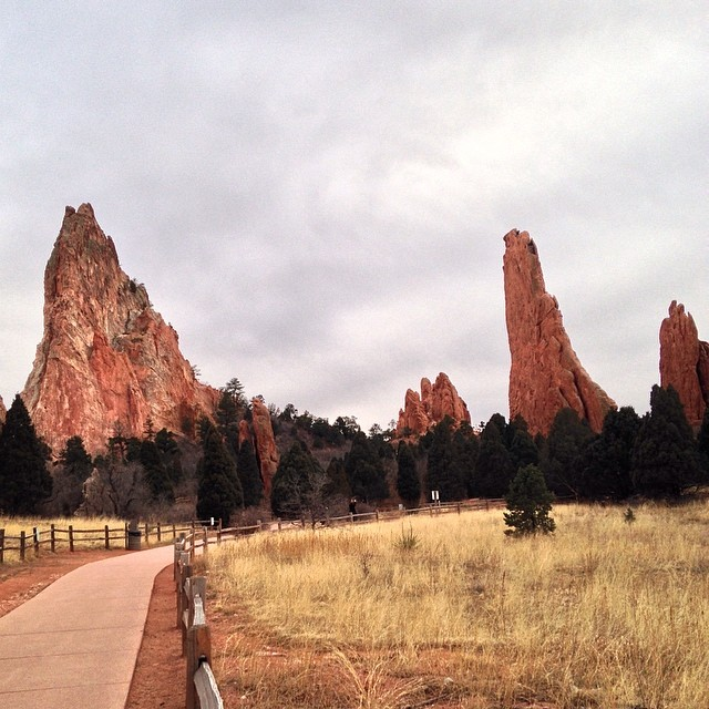 Another photo from my latest trip to Garden of the Gods in Colorado Springs, Colorado. Visit my blog post from today to see more photos I took of these unique natural structures!