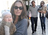 EXCLUSIVE ALL ROUND PICTURE: PALACE LEE / MATRIXPICTURES.CO.UK\nPLEASE CREDIT ALL USES\nWORLD RIGHTS\nBritish model, socialite and television personality Tamara Ecclestone, husband Jay Rutland and baby Sophia are pictured arriving for lunch at upmarket Knightsbridge restaurant Scalini in London.\nThe Formula One heiress makes sure 7-month-old Sophia is kept warm by dressing her up in a fur body warmer and bobble hat.\nOCTOBER 25th 2014\nREF: LTN 144540