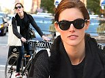 Fashion model Hilary Rhoda rides her bike back from the gym in Soho on October 25, 2014 in New York City\n\nPictured: Hilary Rhoda\nRef: SPL874686  251014  \nPicture by: Christopher Peterson/Splash News\n\nSplash News and Pictures\nLos Angeles: 310-821-2666\nNew York: 212-619-2666\nLondon: 870-934-2666\nphotodesk@splashnews.com\n