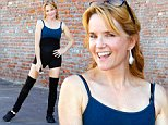Hollywood, CA - Lea Thompson channels her inner Flashdance for practice with Artem Chigvintsev at the 'Dancing With The Stars' dance rehearsal studio in Hollywood.\nAKM-GSI     October  26, 2014\nTo License These Photos, Please Contact :\nSteve Ginsburg\n(310) 505-8447\n(323) 423-9397\nsteve@akmgsi.com\nsales@akmgsi.com\nor\nMaria Buda\n(917) 242-1505\nmbuda@akmgsi.com\nginsburgspalyinc@gmail.com