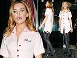Mandatory Credit: Photo by Beretta/Sims/REX (4222849ah)  Abbey Clancy at an Agent Provocateur store to support Breast Cancer Awareness Month  Abbey Clancy out and about, London, Britain - 27 Oct 2014