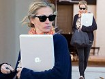 EXCLUSIVE TO INF.\nOctober 26, 2014: Julia Roberts looks very chic with her colorful scarf and MacBook in hand as she drops of her kids, Henry Moder and Hazel Moder, before making it to an afternoon appointment in Los Angeles, California.\nMandatory Credit: Lazic/Borisio/INFphoto.com\nRef: infusla-257/277|sp|CODE000