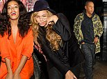 17 October 2014. Beyonce and Jay Z seen going for dinner at Harry's bar this evening with Adele. Credit: Ben/GoffPhotos.com   Ref: KGC-102