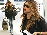 Picture Shows: Sofia Vergara  October 26, 2014    'Modern Family' star Sofia Vergara departs on a flight out of the Savannah, Georgia airport, dressed down and casual in jeans and sneakers.     The actress was in Savannah visiting her boyfriend Joe Manganiello, while he films scenes for 'Magic Mike XXL.'     Exclusive - All Round  UK RIGHTS ONLY    Pictures by : FameFlynet UK    2014  Tel : +44 (0)20 3551 5049  Email : info@fameflynet.uk.com