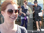 """Picture Shows: Alexis Denisof  October 25, 2014\n \n Former """"How I Met Your Mother"""" Alyson Hannigan and her husband Alexis Denisof stop by Cynergy Cycles in Santa Monica, California. Alyson bought some clothes after her work out. Alyson will soon be returning to TV in a new show, """"More Time With The Family,"""" about a man who leaves his job to bond with his family. \n \n Non Exclusive\n UK RIGHTS ONLY\n \n Pictures by : FameFlynet UK © 2014\n Tel : +44 (0)20 3551 5049\n Email : info@fameflynet.uk.com"""
