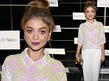 LOS ANGELES, CA - OCTOBER 26:  Actress Sarah Hyland attends The Note Pad Powered by the Samsung Galaxy Note 4 on October 26, 2014 in Los Angeles, California.  (Photo by Michael Buckner/Getty Images for Samsung)