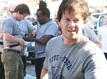 Picture Shows: Mark Wahlberg  October 24, 2014\n \n American actor Mark Wahlberg is seen getting his weight lifting belt adjusted after enjoying lunch with friends in Beverly Hills, California.\n \n The 'Ted 2' star was casually dressed in a grey T-shirt and knee-length cargo shorts.\n \n Non Exclusive\n UK RIGHTS ONLY\n \n Pictures by : FameFlynet UK © 2014\n Tel : +44 (0)20 3551 5049\n Email : info@fameflynet.uk.com