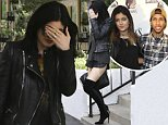 Calabasas, CA - Kylie Jenner was feeling a bit camera shy on Saturday afternoon in Calabasas when asked about rumored boyfriend Tyga. The youngest Kardashian clan member has been hanging out non-stop with the 24-year-old rapper, but both parties have denied a relationship.\nAKM-GSI          October 25, 2014\n To License These Photos, Please Contact :\n \n Steve Ginsburg\n (310) 505-8447\n (323) 423-9397\n steve@akmgsi.com\n sales@akmgsi.com\n \n or\n \n Maria Buda\n (917) 242-1505\n mbuda@akmgsi.com\n ginsburgspalyinc@gmail.com