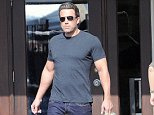 Picture Shows: Ben Affleck  October 19, 2014    A very buff Ben Affleck shows off his bulging biceps while taking his daughters Violet and Seraphina shopping in Brentwood, California.     Ben has been bulking up to play the caped crusader in 'Batman v Superman: Dawn Of Justice.'    Exclusive All Rounder  UK RIGHTS ONLY    Pictures by : FameFlynet UK © 2014  Tel : +44 (0)20 3551 5049  Email : info@fameflynet.uk.com
