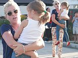 Picture Shows: Busy Philipps, Birdie Silverstein  October 26, 2014\n \n 'Cougar Town' star Busy Philipps and her daughter Birdie leave a Halloween party in West Hollywood, California. \n \n Birdie was obviously not to keen to be leaving the party, with her Mum having to carry her out!\n \n Exclusive - All Round\n UK RIGHTS ONLY\n \n Pictures by : FameFlynet UK © 2014\n Tel : +44 (0)20 3551 5049\n Email : info@fameflynet.uk.com