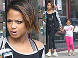 128219, EXCLUSIVE: Christina Milian seen out having breakfast with her daughter Violet at Subway in Los Angeles. Los Angeles, California - Saturday October 25, 2014. Photograph: Sam Sharma, © PacificCoastNews. Los Angeles Office: +1 310.822.0419 sales@pacificcoastnews.com FEE MUST BE AGREED PRIOR TO USAGE
