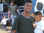 25.OCTOBER.2014 - WEST HOLLYWOOD - USA LOS ANGELES LAKERS BASKETBALL PLAYER NICK YOUNG TAKES SON TO THE PUMPKIN PATCH IN  HOLLYWOOD! BYLINE MUST READ : XPOSUREPHOTOS.COM ***UK CLIENTS - PICTURES CONTAINING CHILDREN PLEASE PIXELATE FACE PRIOR TO PUBLICATION *** **UK CLIENTS MUST CALL PRIOR TO TV OR ONLINE USAGE PLEASE TELEPHONE  44 208 344 2007 ***