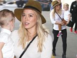 Picture Shows: Luca Comrie, Hilary Duff  October 27, 2014\n \n 'Younger' star Hilary Duff and her son Luca are seen catching a flight out of LAX Airport in Los Angeles, California. \n \n Hilary and her estranged husband Mike Comrie looked very friendly this past weekend as they went hand-in-hand to a Halloween party together.\n \n Non Exclusive\n UK RIGHTS ONLY\n \n Pictures by : FameFlynet UK © 2014\n Tel : +44 (0)20 3551 5049\n Email : info@fameflynet.uk.com