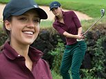 Rain again delayed play but eventually the rain eased for the final day of the 2014 World Celebrity Pro-Am Golf Tournament.\n\nPictured: Jessica Alba\nRef: SPL874082  261014  \nPicture by: Jayne Russell / Splash News\n\nSplash News and Pictures\nLos Angeles: 310-821-2666\nNew York: 212-619-2666\nLondon: 870-934-2666\nphotodesk@splashnews.com\n