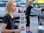 EXCLUSIVE: Calista Flockhart steps out after her yoga class with a bright new look to her hair. Flockhart looked sweaty from the exercise.\n\nPictured: Calista Flockhart\nRef: SPL875010  261014   EXCLUSIVE\nPicture by: KAMINSKI / Splash News\n\nSplash News and Pictures\nLos Angeles:\t310-821-2666\nNew York:\t212-619-2666\nLondon:\t870-934-2666\nphotodesk@splashnews.com\n