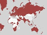 This global map created by Facebook's date team shows the breakdown of Barca and Real fans in the world