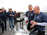 Shrewsbury Town fans have been queuing since 3am for the general sale of tickets for the Capital Cup match v Chelsea on October 28th. Players were on hand to offer supporters cups of hot coffee and tea - James Collins and Andy Robinson