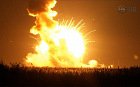 Antares rocket explodes spectacularly shortly after take-off