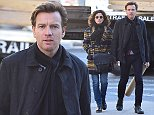 *NO NEW YORK DAILY NEWS OR NEW YORK POST* EXCLUSIVE: EXCLUSIVE-Ewan McGregor walks hand in hand with his Wife Eve Mavrakis in New York. The pair strolled hand in hand as they went shopping to a local Duane Reade store after picking up a cylindrical package.  Pictured: Ewan McGregor, Eve Mavrakis Ref: SPL870599  271014   EXCLUSIVE Picture by: Splash News  Splash News and Pictures Los Angeles: 310-821-2666 New York: 212-619-2666 London: 870-934-2666 photodesk@splashnews.com